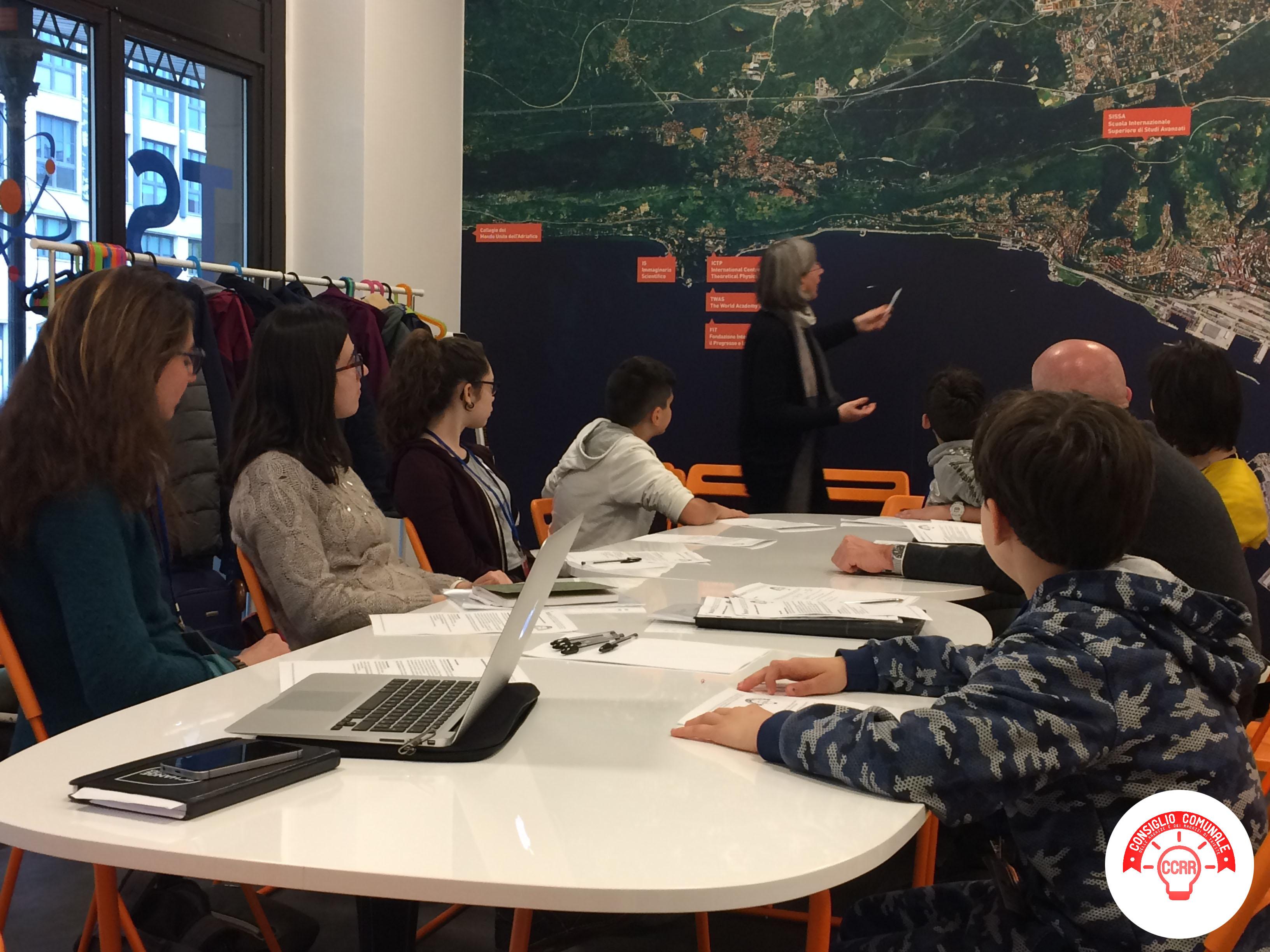 CCRR_quinto incontro_tavolo tecnico sul Giornalino Scientifico dei Ragazzi_incontro al Punto Trieste città della Conoscenza 2