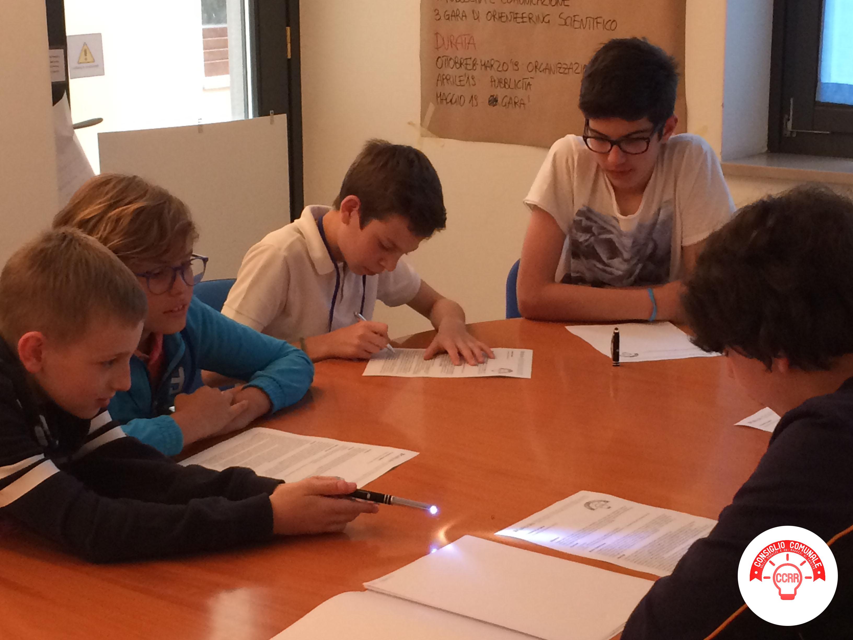 CCRR_settimo incontro_preparazione in gruppi per l'evento finale in Consiglio Comunale 3