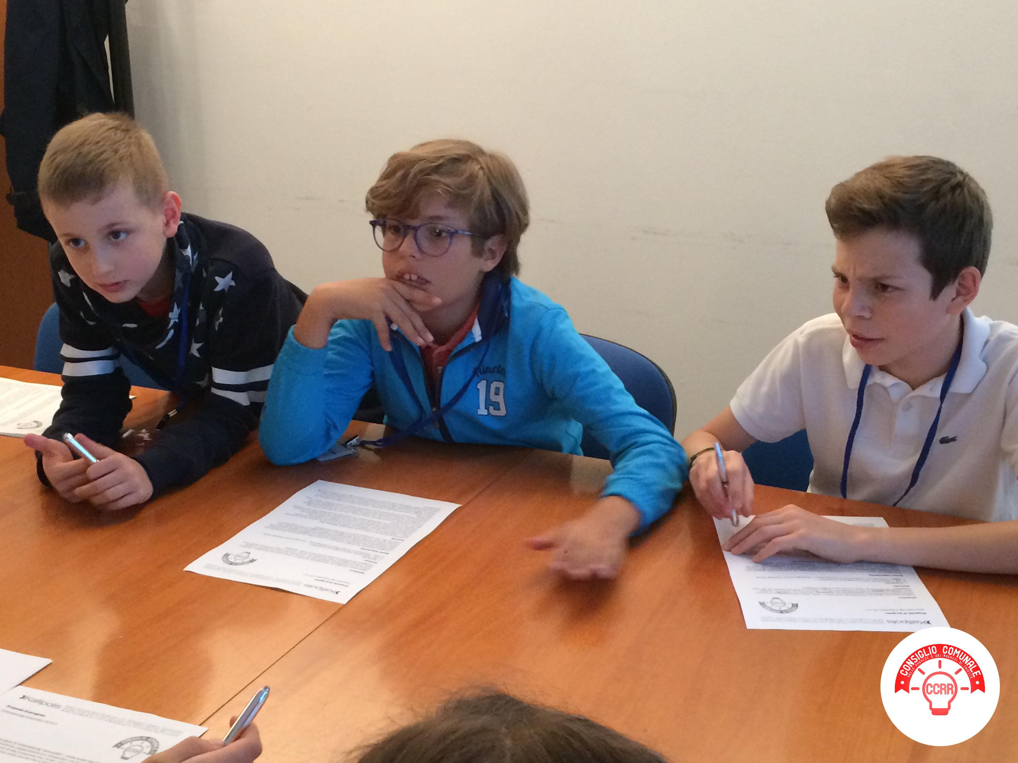 CCRR_settimo incontro_preparazione in gruppi per l'evento finale in Consiglio Comunale 4